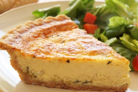 Leek and Parmesan Quiche