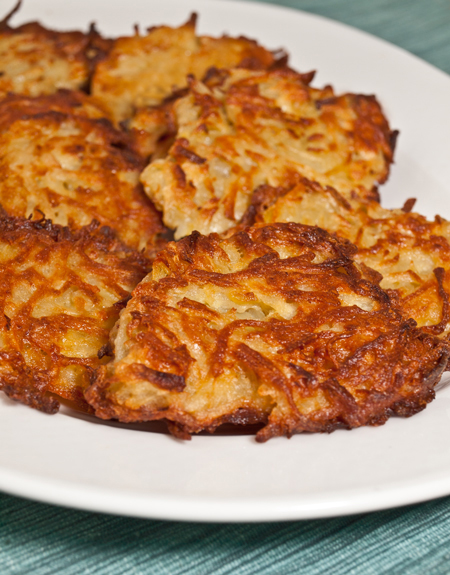 Oven-Fried Potato Latkes - Once Upon a Chef