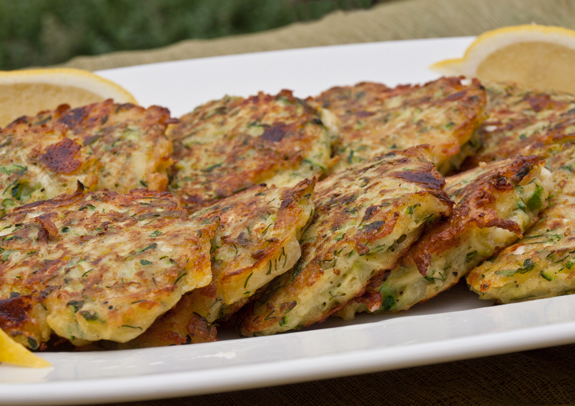 Zucchini Fritters with Feta and Dill - Once Upon a Chef