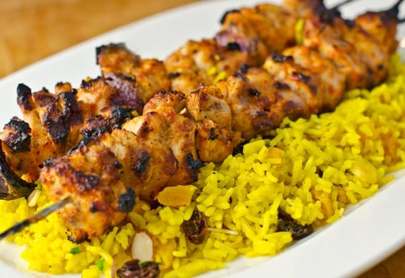 Middle Eastern Chicken Kebabs - Once Upon a Chef