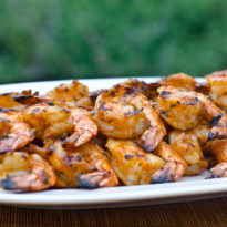 Grilled Shrimp Skewers with Tomato, Garlic & Herbs