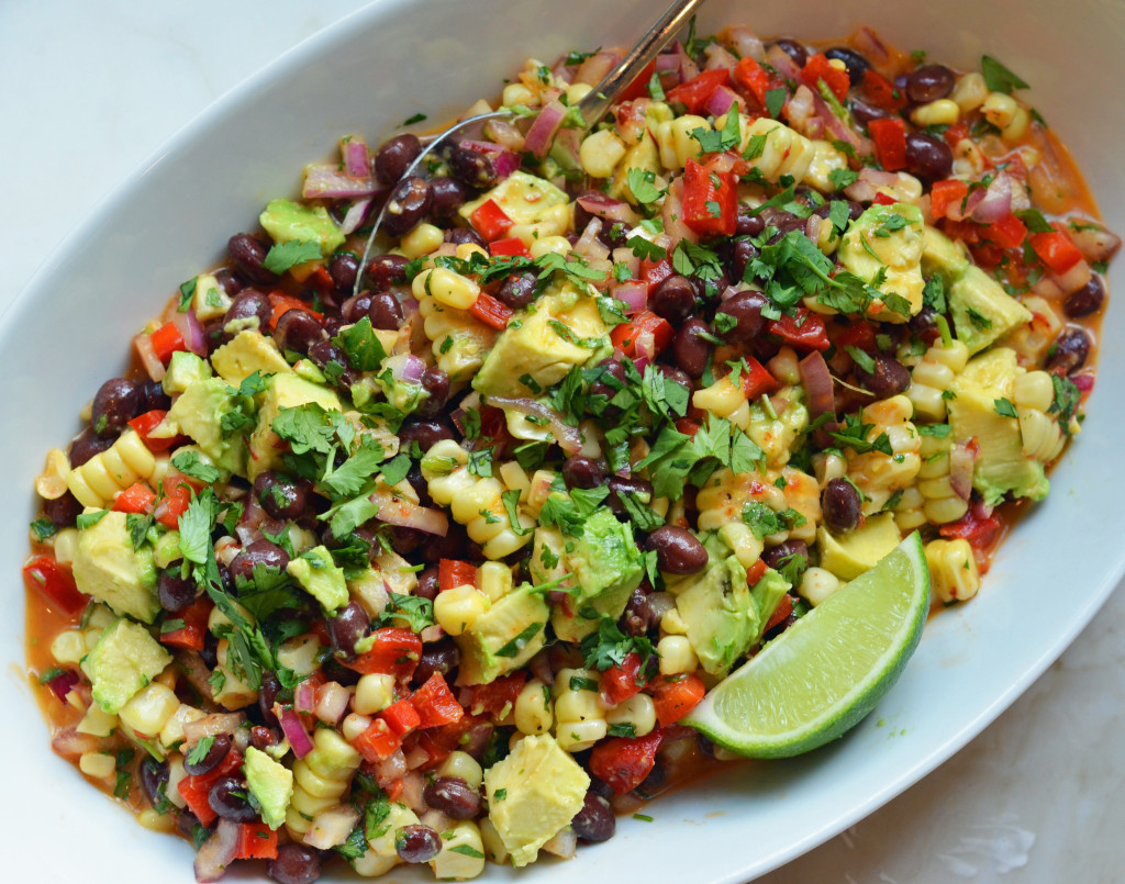 Black Bean & Corn Salad with Chipotle-Honey Vinaigrette - Once Upon a ...