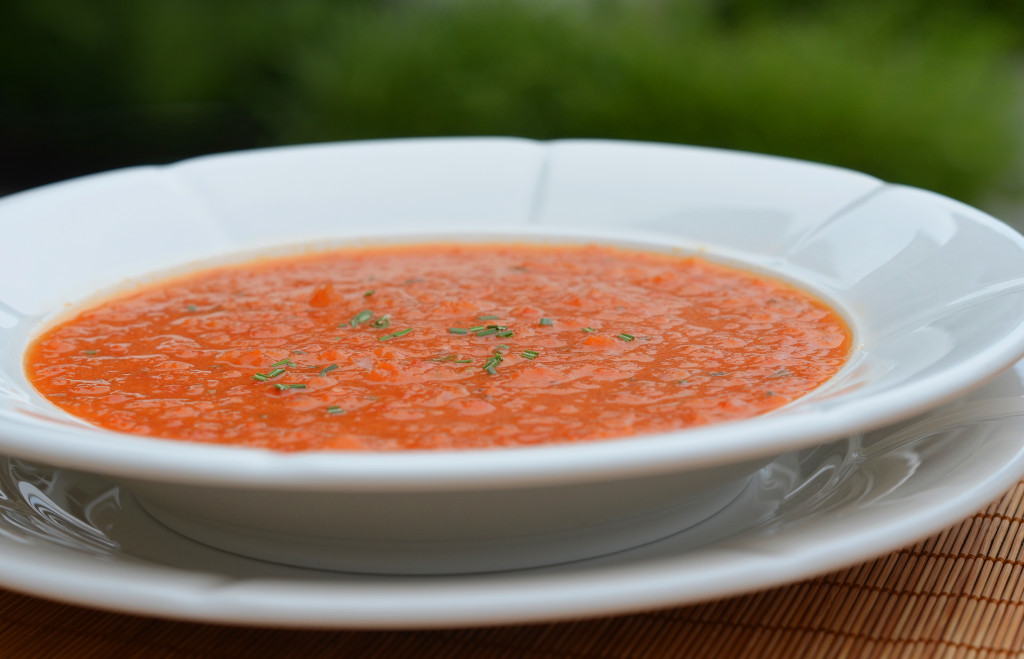 Chilled Roasted Red Pepper Soup - Once Upon a Chef