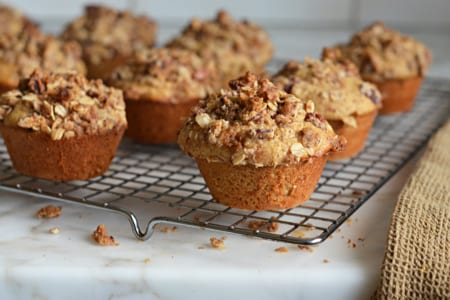Oat Muffins with Pecan Streusel Topping