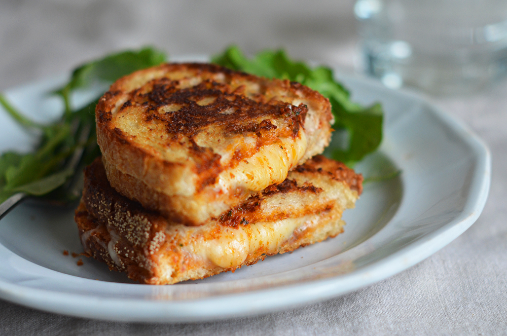Grilled Cheese Sandwiches with Sun-Dried Tomato Pesto - Once Upon a ...