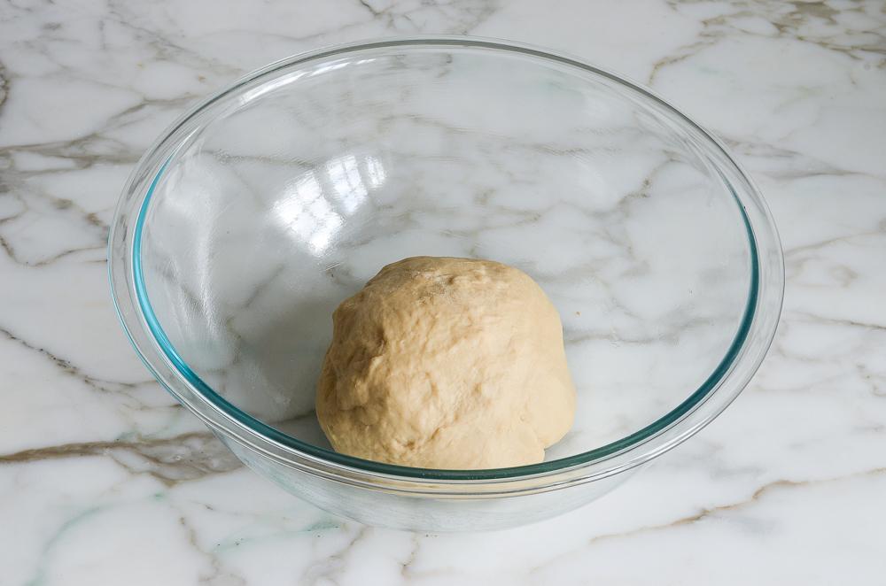 dough ball in bowl