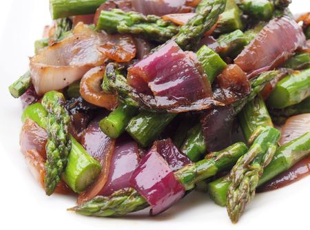 Asparagus red onion 1
