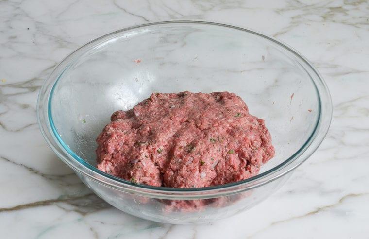 lamb burger mixture