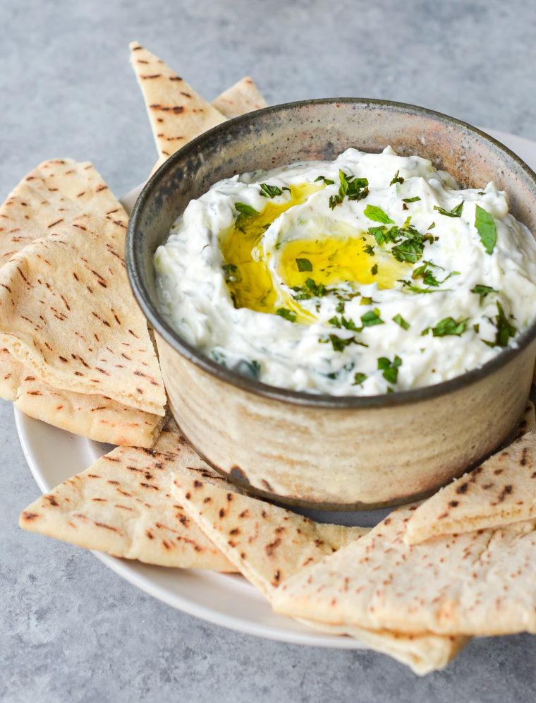 Tzatziki (Low Fat Yogurt & Cucumber Dip)