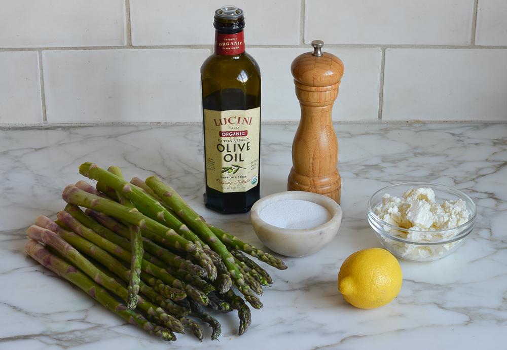ingredients for grilled asparagus salad