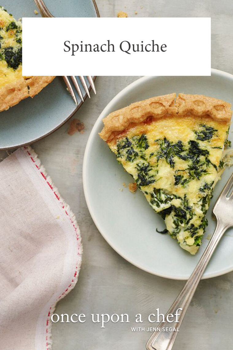 Classic French Spinach Quiche Once Upon A Chef