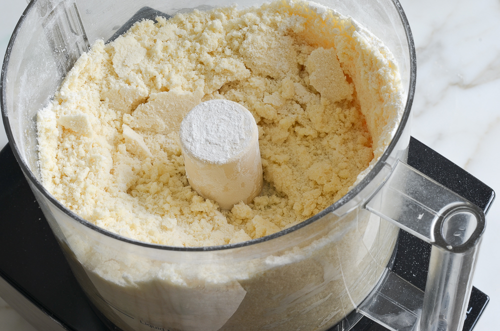 crust blended to coarse meal in food processor