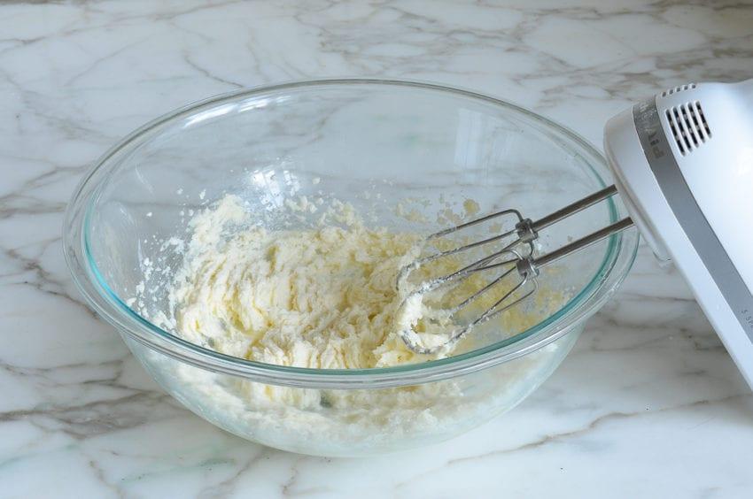 creaming butter mixture