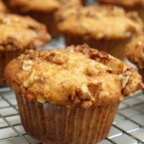 Banana Honey-Walnut Muffins