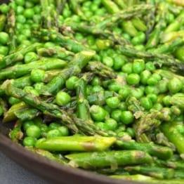 Sautéed Asparagus and Peas