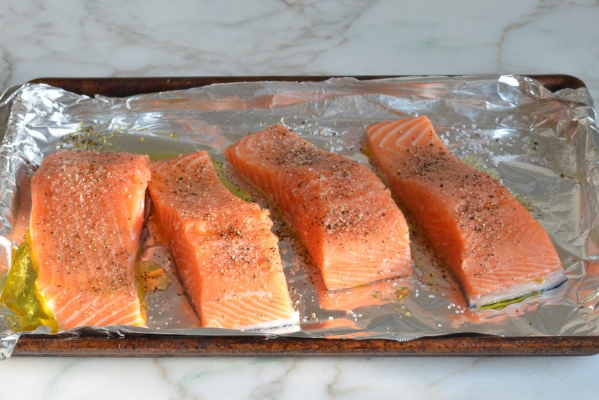 how to make grilled salmon with cucumber salad