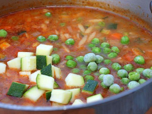Veg pesto soup 16