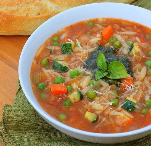 Veg pesto soup 17