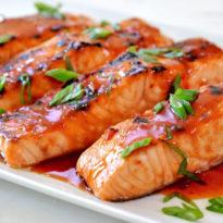 Broiled Salmon with Thai Sweet Chili Glaze
