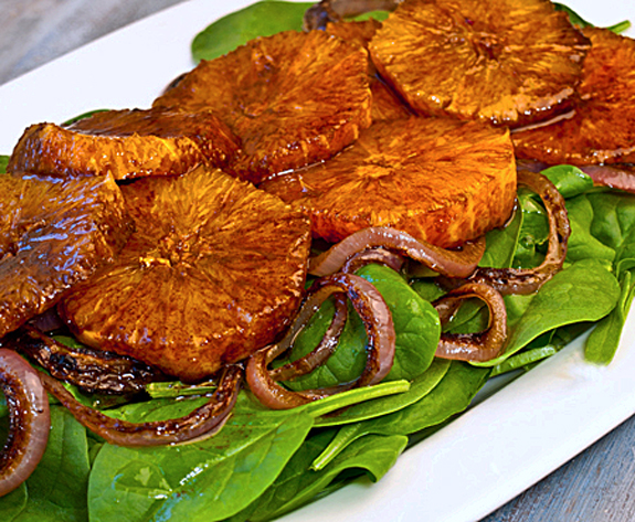 Moroccan-Spinach-Caramelized-Red-Onion-&-Orange-Salad