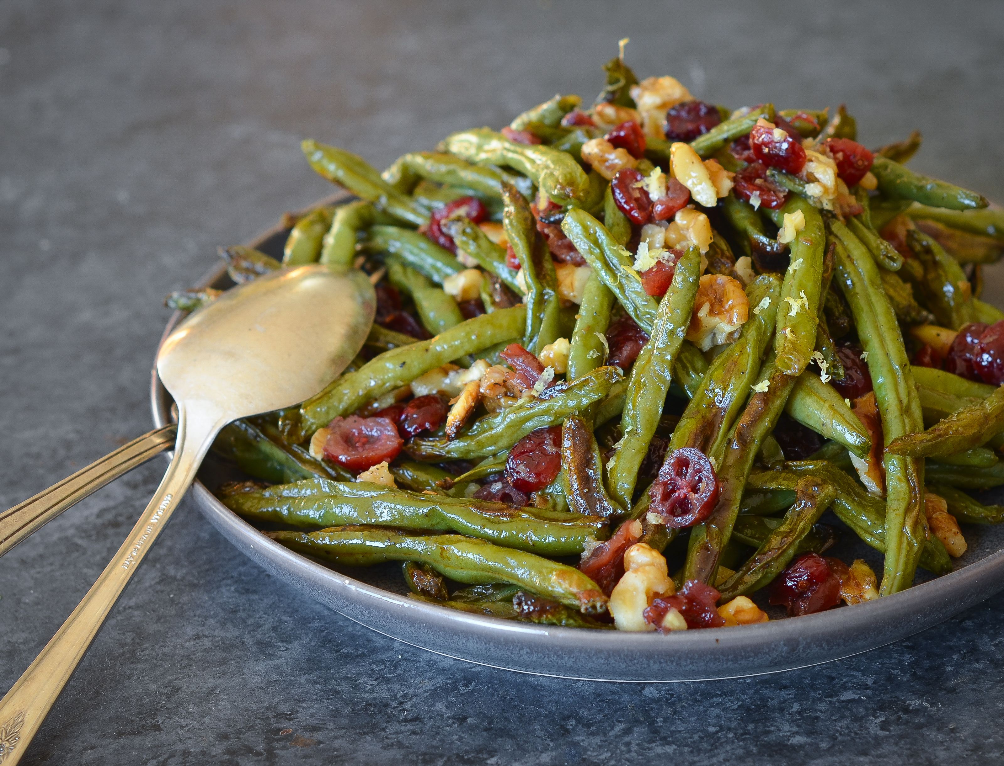 Roasted Green Beans With Cranberries And Walnuts Once Upon A Chef