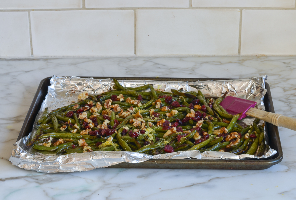 how to make roasted green beans