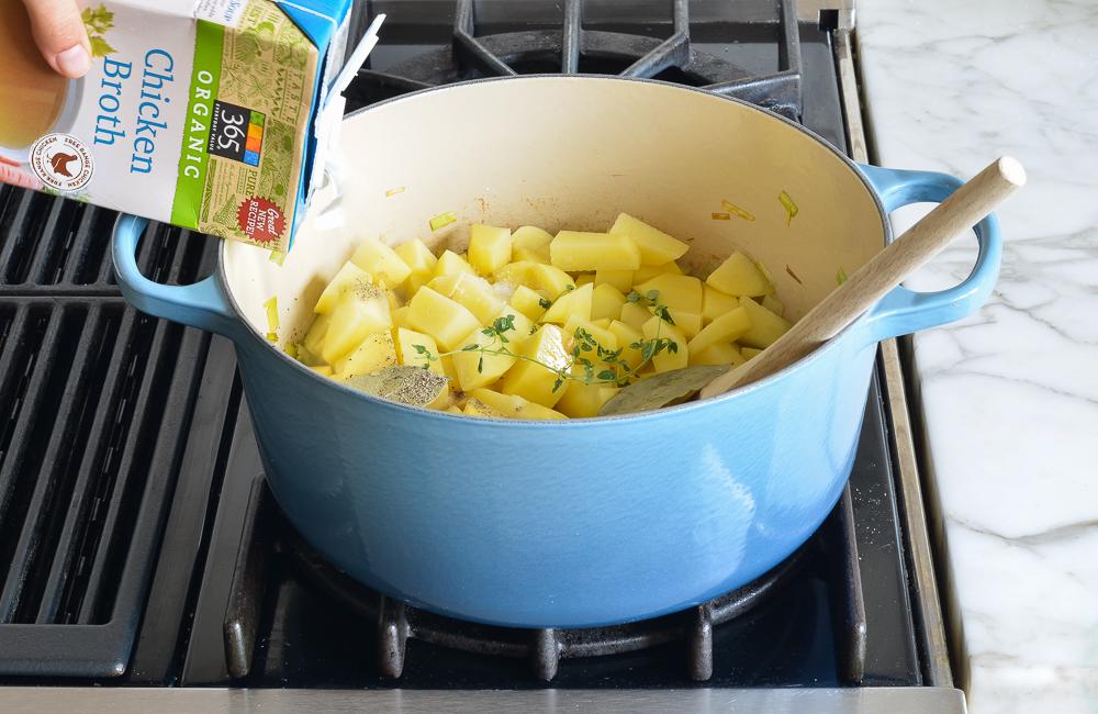 how to make potato leek soup