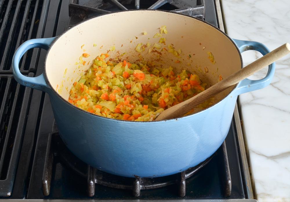 softened vegetables