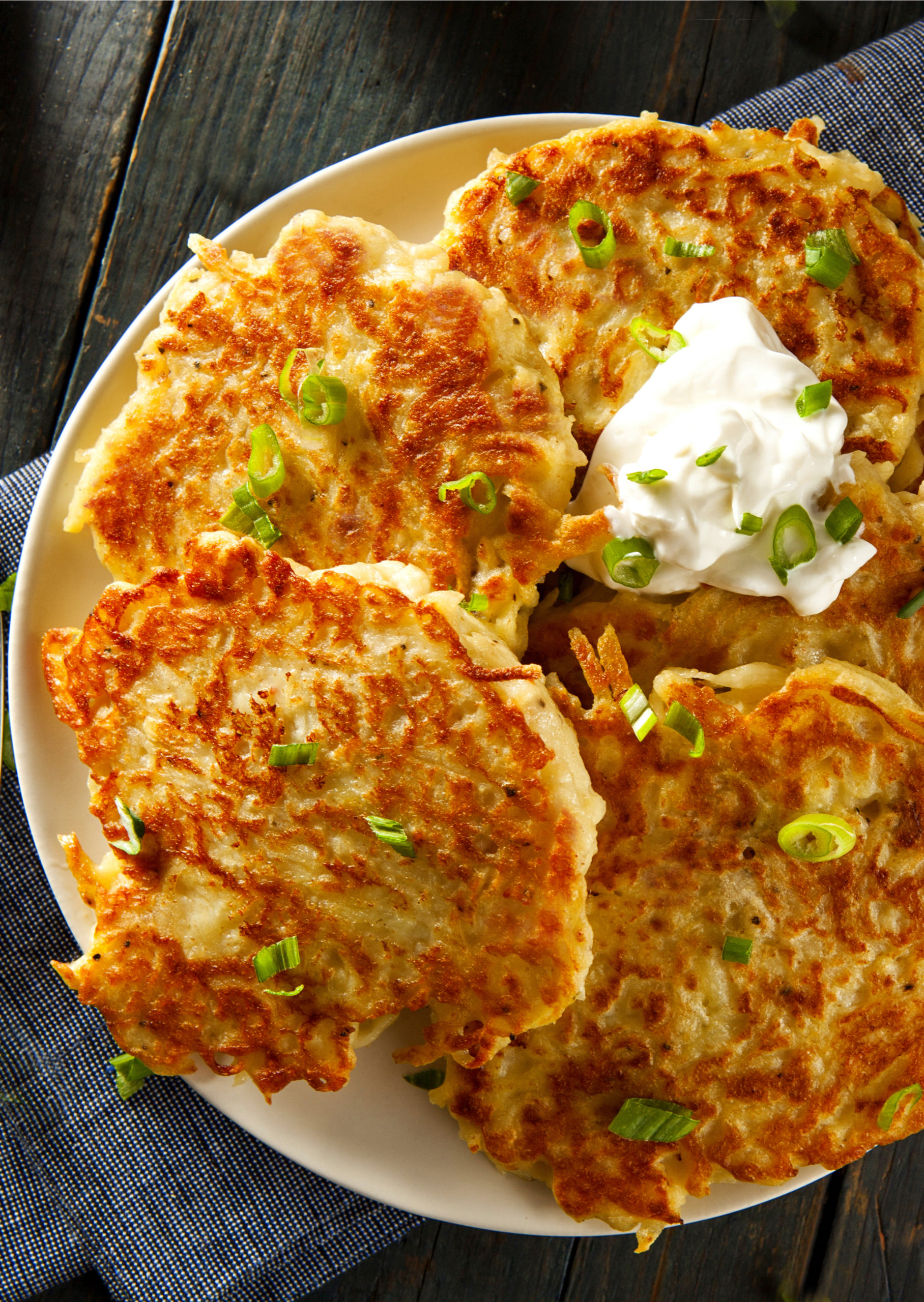 Oven Fried Potato Latkes Once Upon A Chef