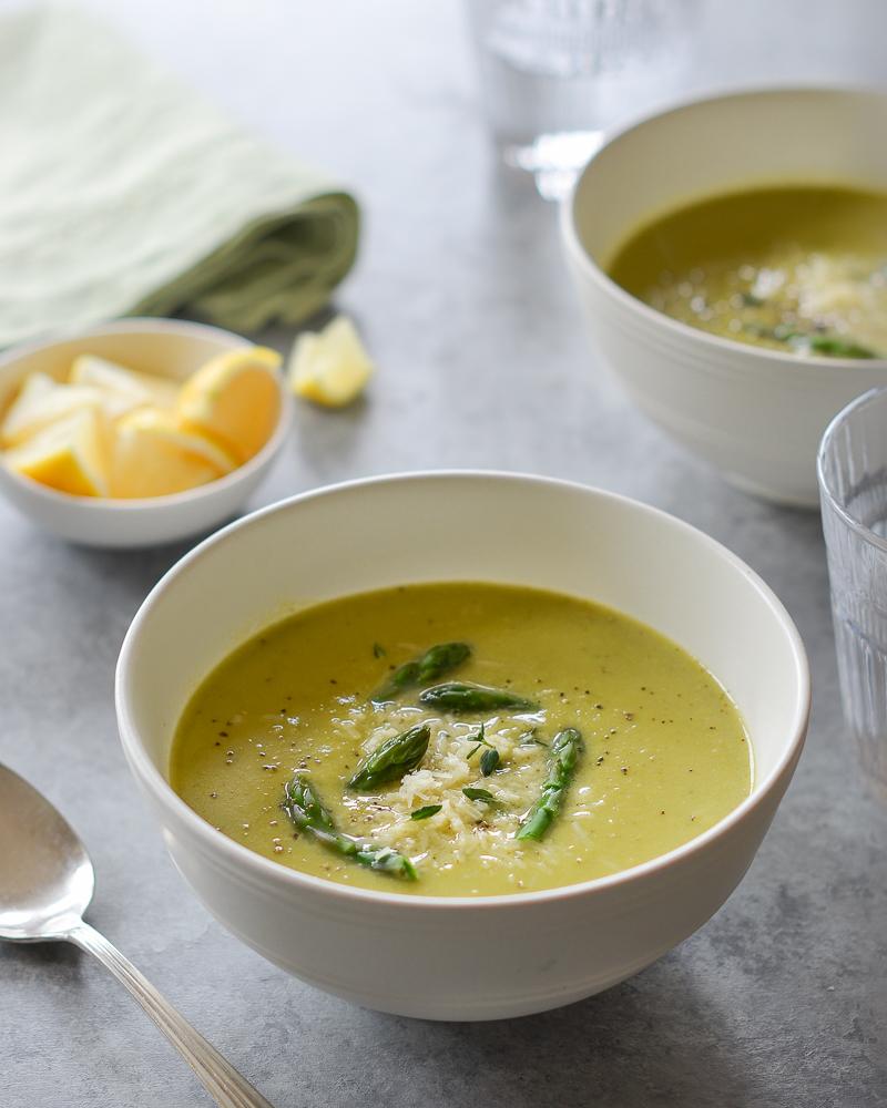 Asparagus Soup with Lemon and Parmesan