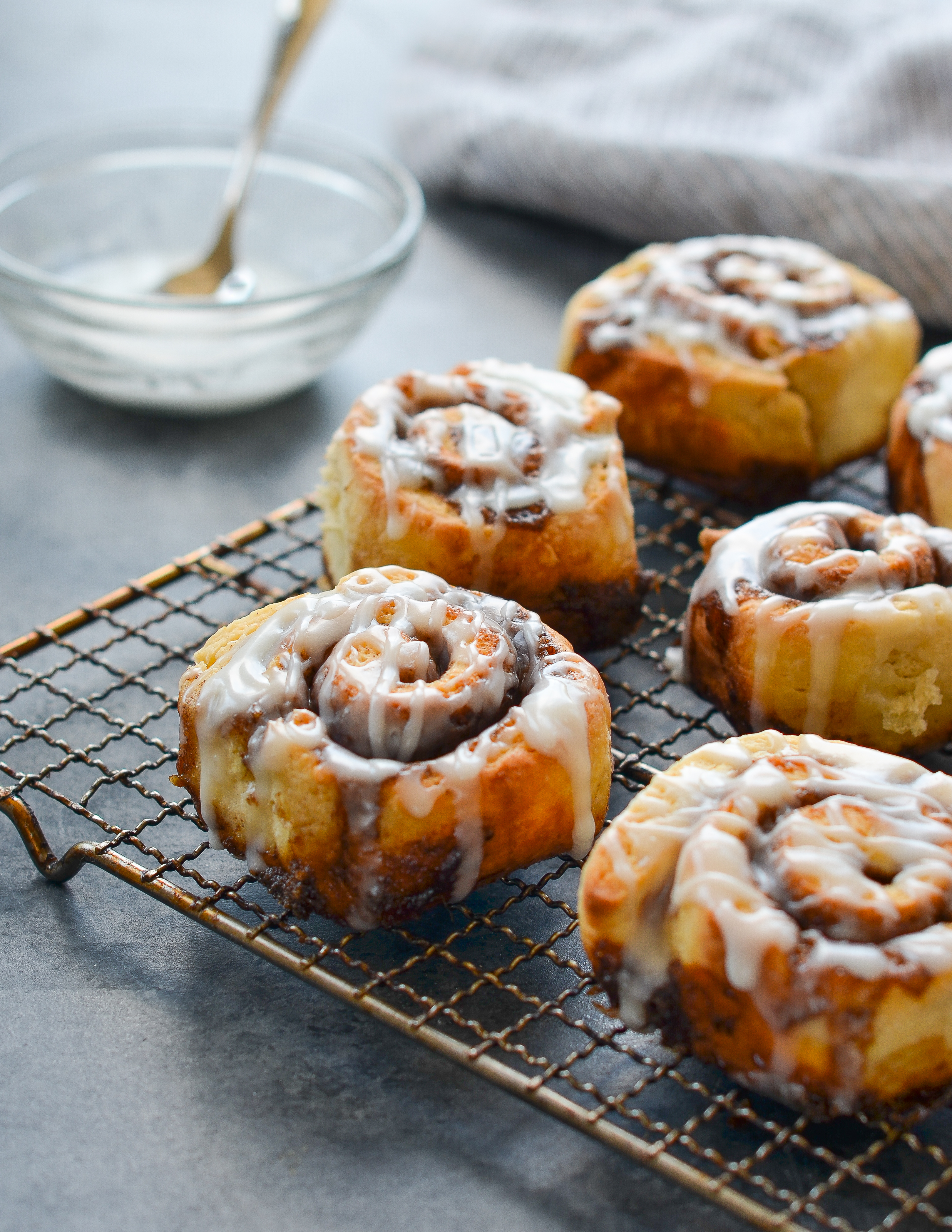 Quick Cinnamon Buns With Buttermilk Glaze Once Upon A Chef