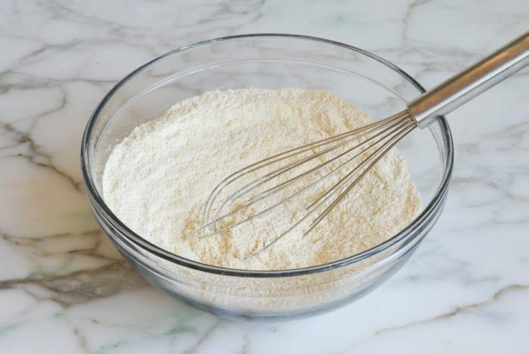 dry ingredients whisked
