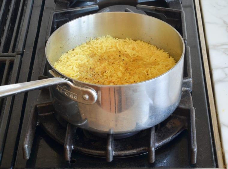 cooked basmati rice pilaf