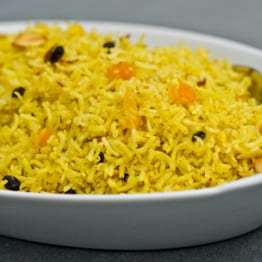 Basmati Rice Pilaf with Dried Fruit and Almonds