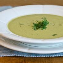 Creamy Zucchini, Walnut and Dill Soup