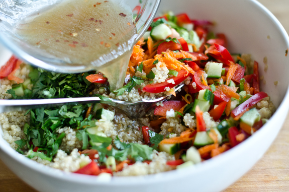 Thai Quinoa Salad With Fresh Herbs And Lime Vinaigrette Once Upon A Chef