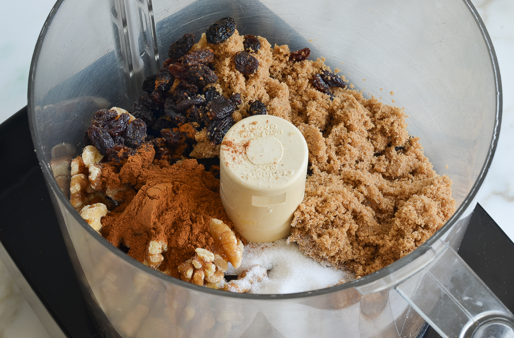 rugelach filling ingredients in food processor