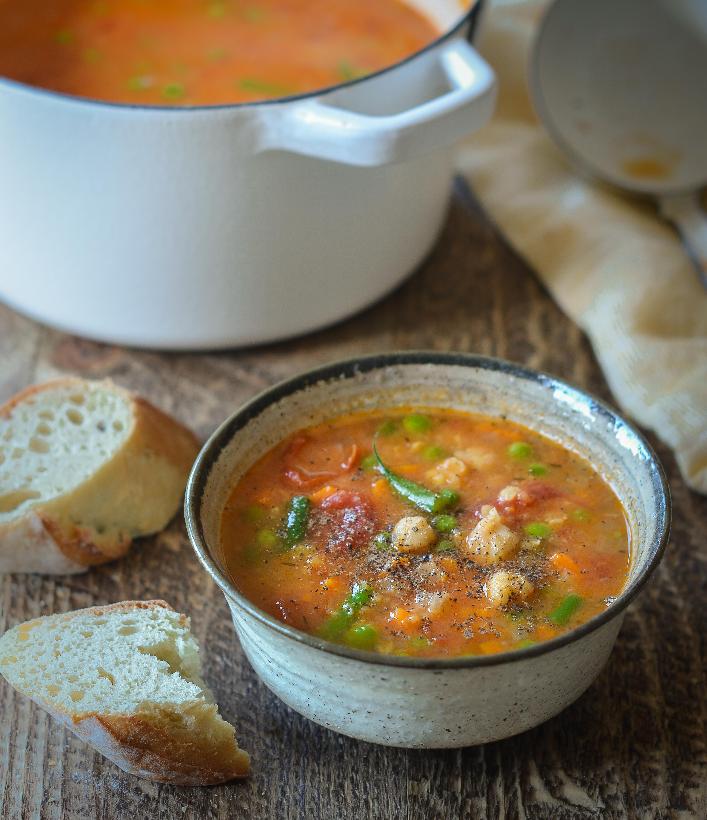 Smoky Chickpea Red Lentil Vegetable Soup