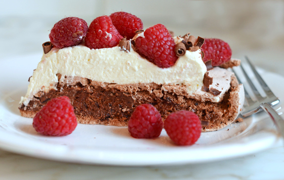 Slice-of-Chocolate-Pavlova-with-Marscapone-Cream-and-Raspberries