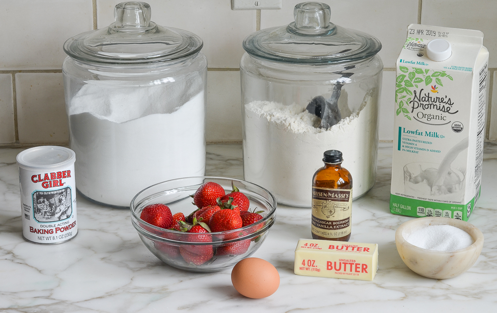 ingredients for strawberry cake
