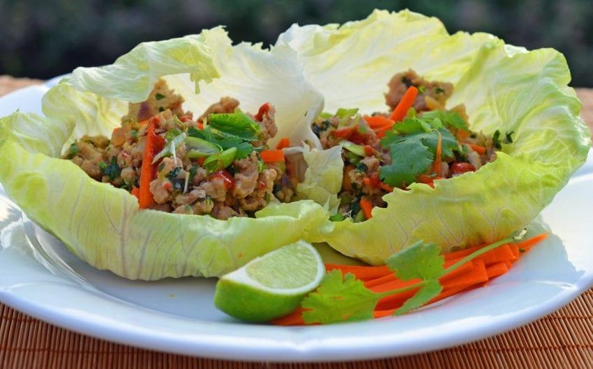 Thai Minced Chicken Lettuce Cups