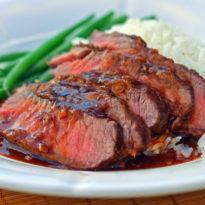 Broiled Asian-Style Flat Iron Steak
