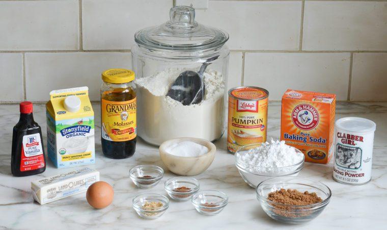 ingredients for pumpkin scones