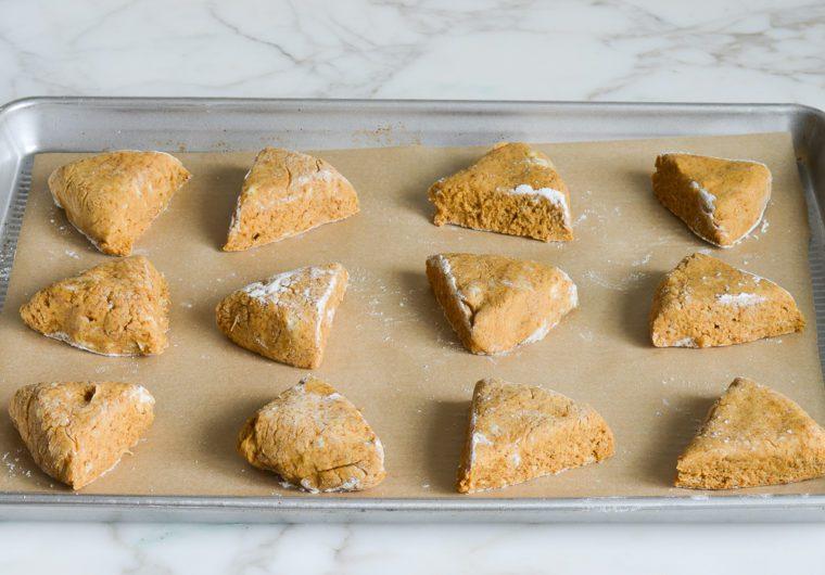 pumpkin scones ready to bake