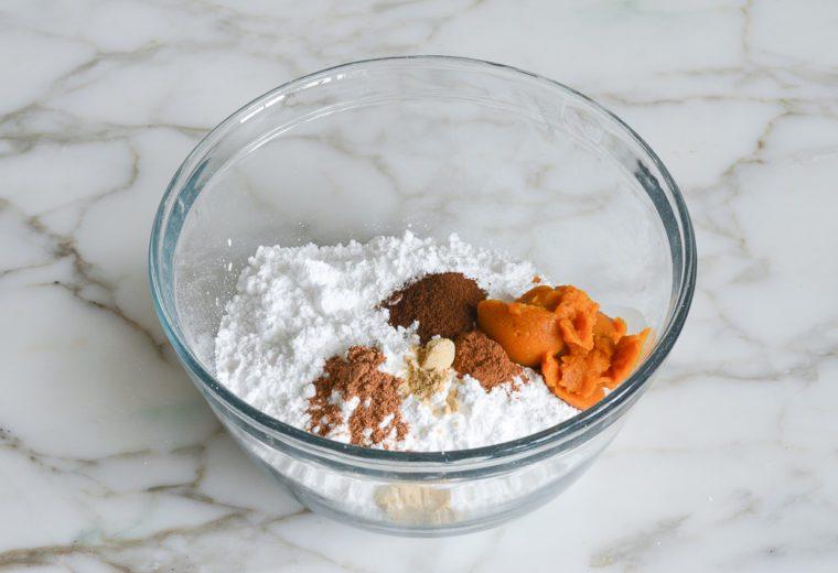 glaze ingredients in bowl