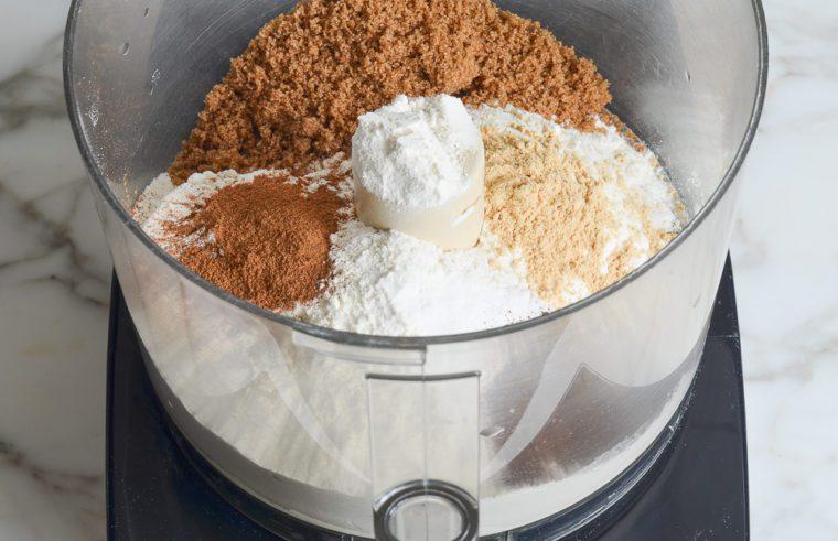 dry ingredients in food processor