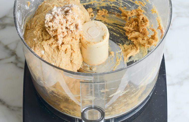 mixed pumpkin scone dough