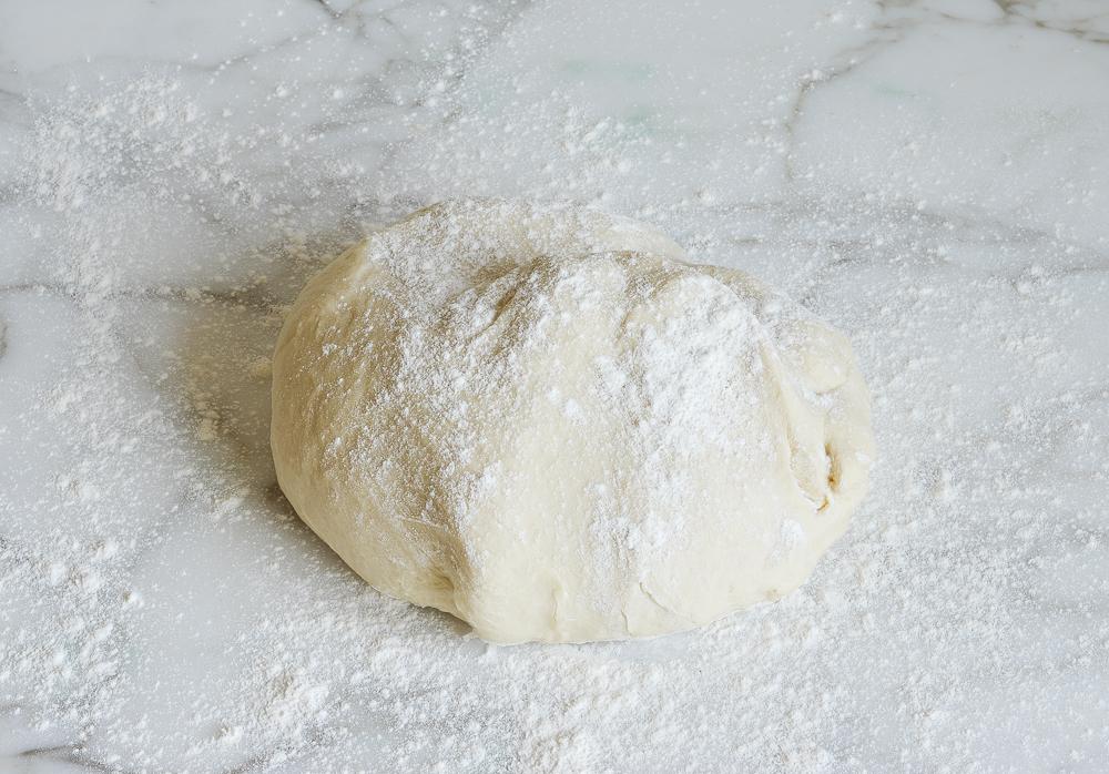 dough on floured surface