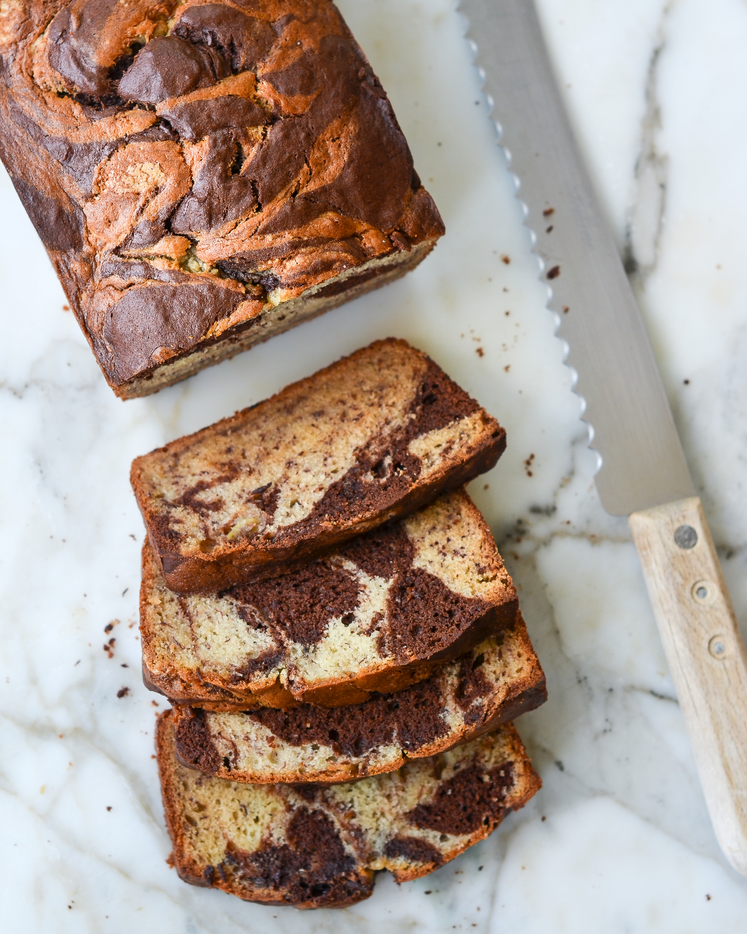 Marbled Banana Bread Once Upon A Chef