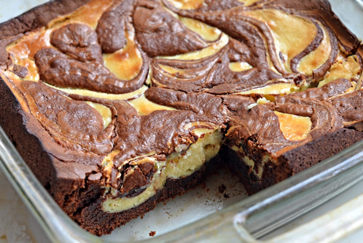 Baileys Cheesecake-Marbled Brownies